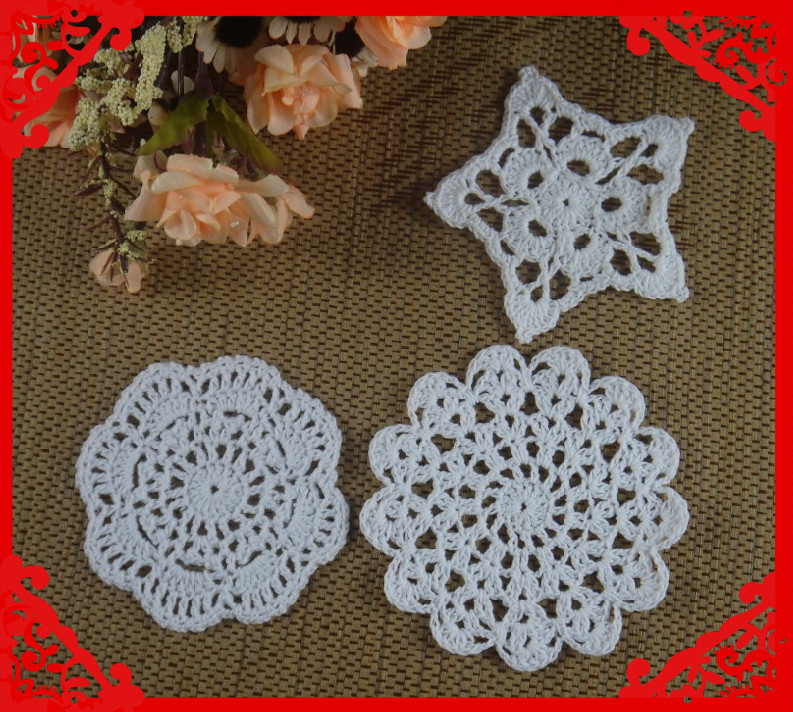 Free Shipping Wholesale Five Pointed Star Round Crochet Pattern