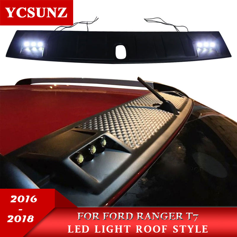 2018 Led Roof Light Raptor Style For FORD RANGER 2017 Roof Accessories For FORD RANGER Wildtrack 2016+ Decorative Panel Of Roof decorative led cabin light panel