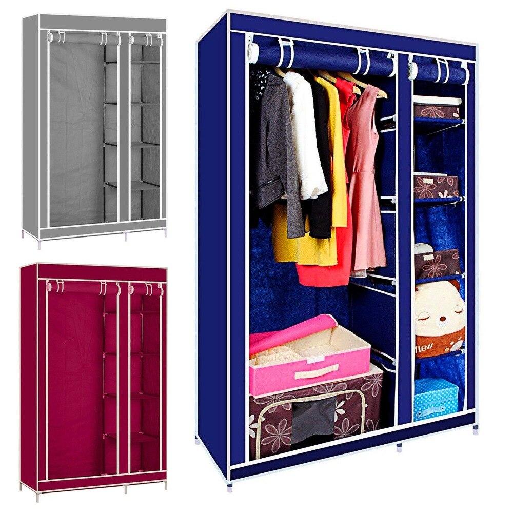175CM Portable Closet Storage Organizer Clothes Wardrobe Shoe Rack Shelves