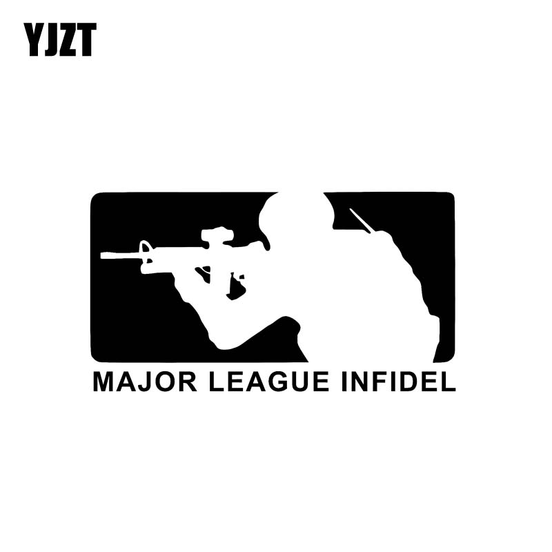 """1-7/"""" x 10/"""" Infidel Sticker Decal Window Military Air Force Navy Army Marines"""
