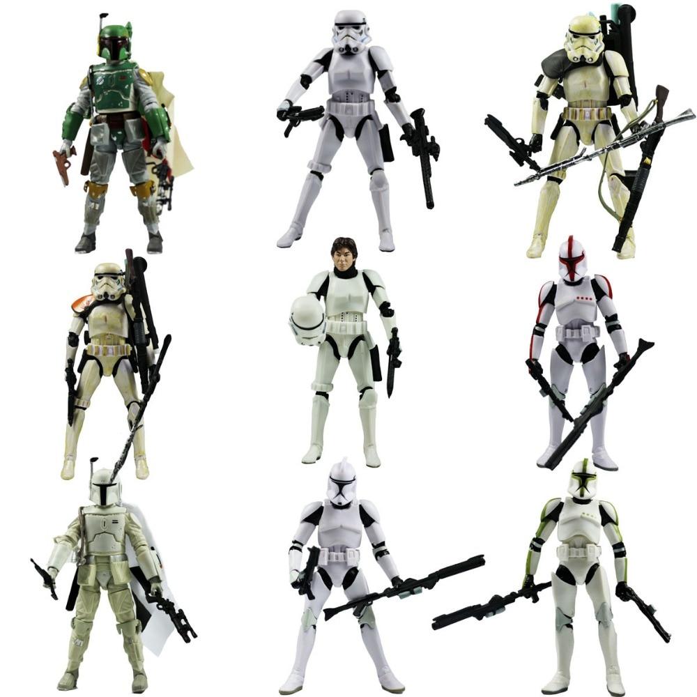 9pcs Lot MOVIE The Black Series Boba Fett Stormtrooper 6 Figure Loose Free Shipping