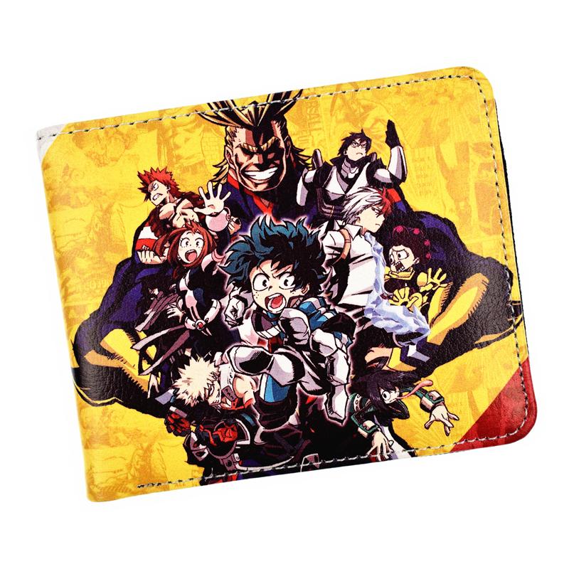 Comics MY Hero Academia Wallet With Zip Coin Pocket