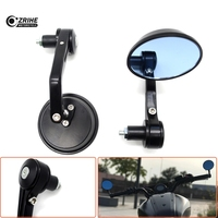 7/8 Round Bar End Rear Mirrors Motorcycle Scooters Racer Rearview Side View Mirror For YAMAHA FZR 250 400 FJR XJR 1200 1300