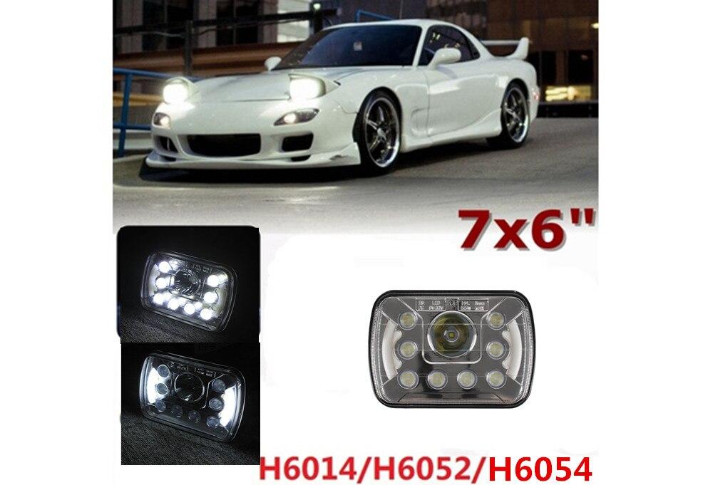 7x6 Dual Beam krystalicznie czyste uszczelnione reflektory LED w/ DRL H6014 H6052 H6054 (1 szt.)