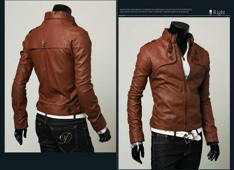 Designer Mens Leather Jacket - Jacket
