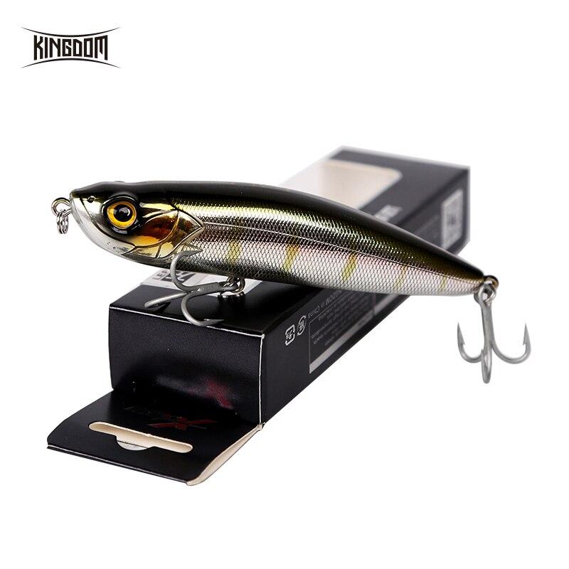 Señuelos de Pesca del Mar del reino flotan y hunden el señuelo del lápiz 10 cm calidad Artificial profesional del palo duro cebo de pesca Wobblers