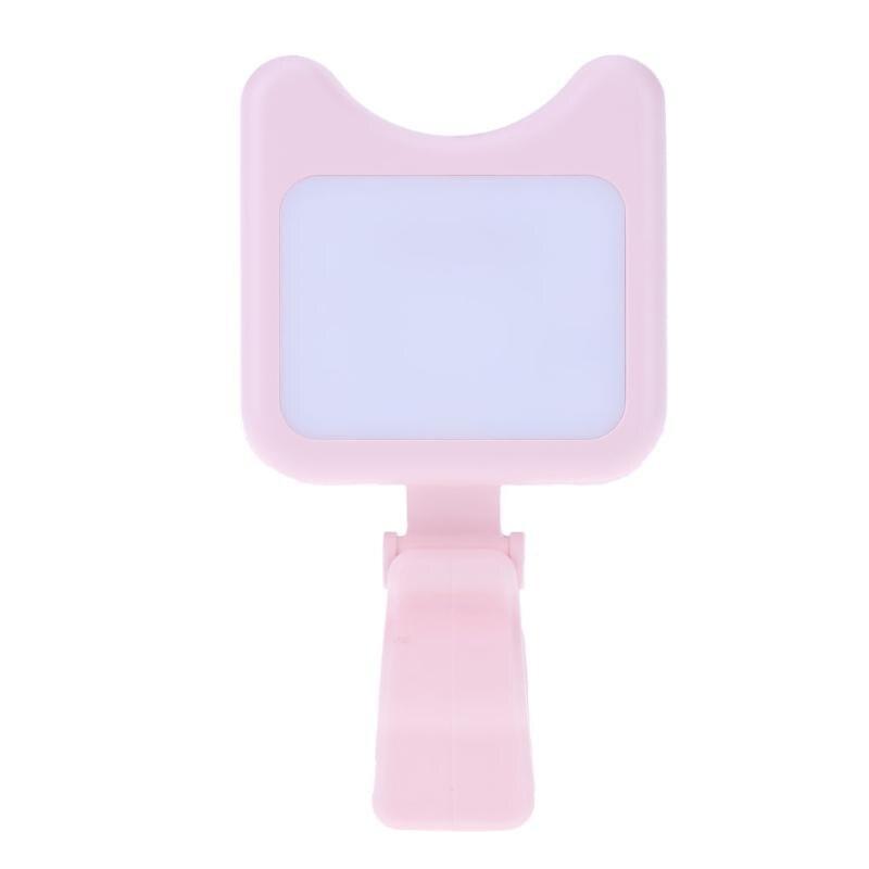 Mini для селфи светодиодной вспышкой телефон клип фонарик заполните яркий дополнение Перезаряжаемые флэш-кошка Форма розовый 9 Яркость уровн...