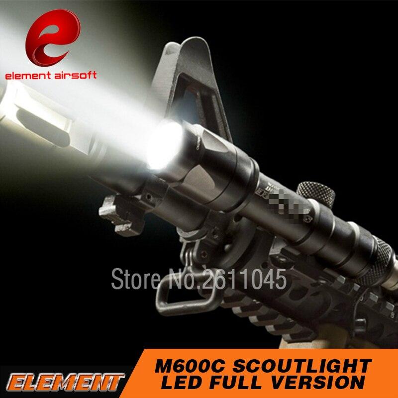 Airsoft Element Surefir M600 Weapon Light 366 Lumen Rifle Scout Gun Flashlight Softair M600C Tactical Light
