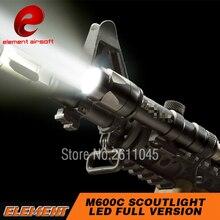 Element Airsoft тактический фонарь вспышка светильник Surefir M600 пистолет светильник 366 люмен M600C Softair Охота вспышки светильник M600 Книги об оружии светильник EX072