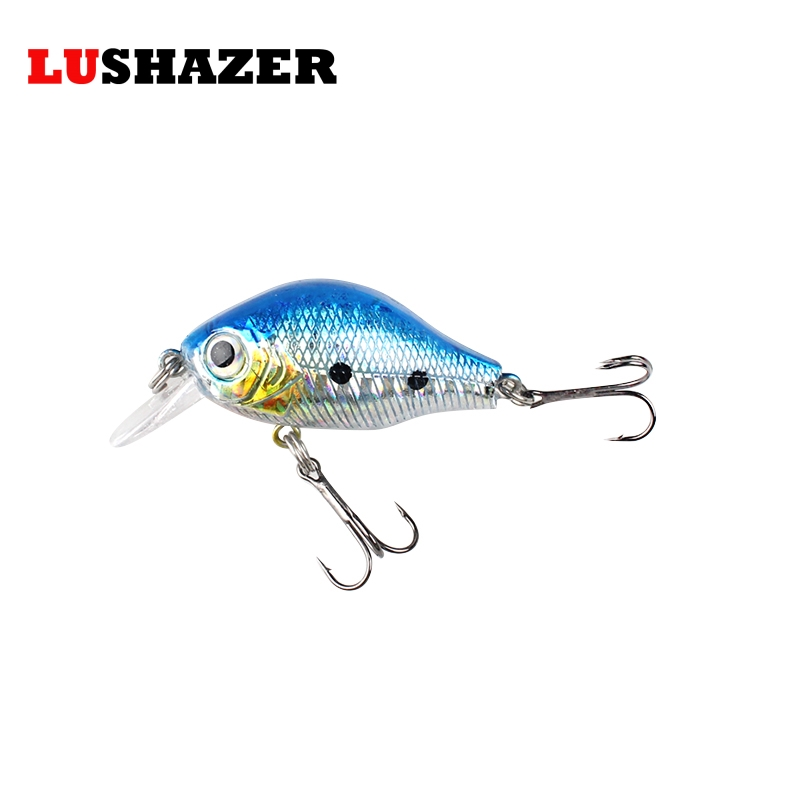 LUSHAZER Fishing lure crank bait 50mm 7g isca artificial carp fishing wobblers crankbait minnow lures bass baits fishing tackle 1pcs fishing lure bait minnow with treble hook isca artificial bass fishing tackle sea japan fishing lure 3d eyes