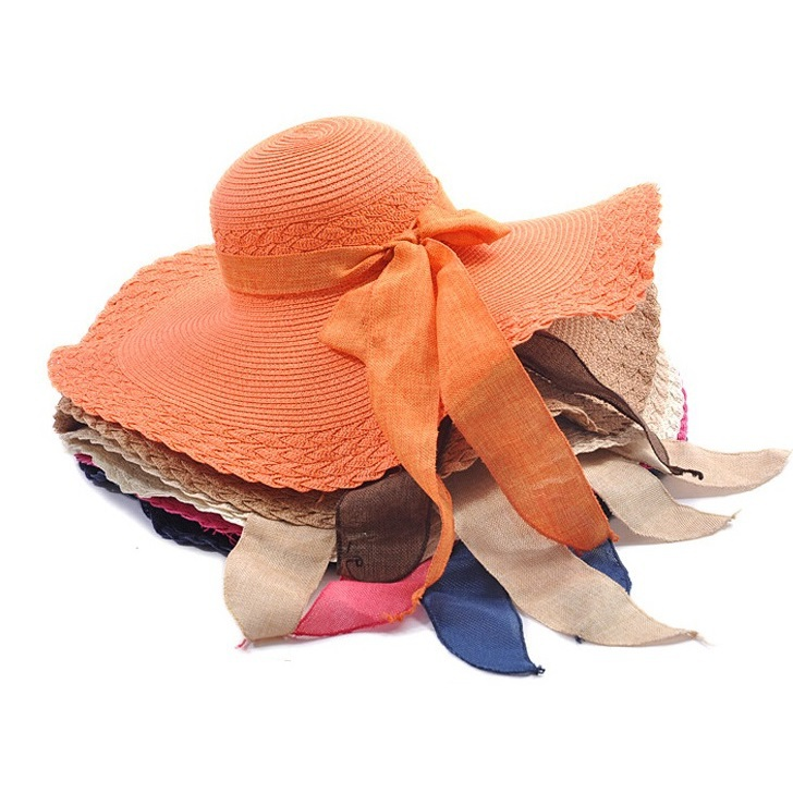 2018 ladies summer hats with brim new brand straw hats for women beach sun  hats floppy sunhat c28efb3af00
