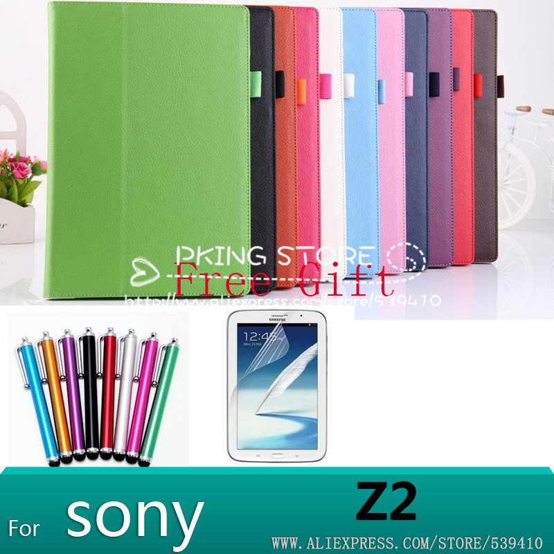 Wholesale cover case for sony xperia tablet z2 new arrival stand Lichi leather case for sony xperia z2 tablet pc free ship beautiful gitf new luxury stand case cover for asus memo pad 7 me176c me176cx tablet wholesale price jan16