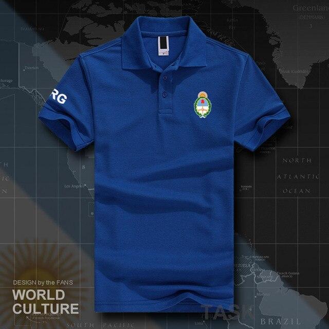 995178c06f3d3 Argentina AR polo camisas hombres manga corta marcas blancas impresas para  país 2018 algodón nación equipo