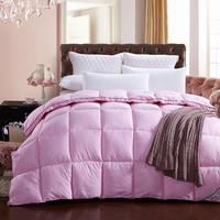 Fashionable Pink Bedding Quilting Seam Duck Down Down Feather Velvet Silk Quilt Duvet For White Cover