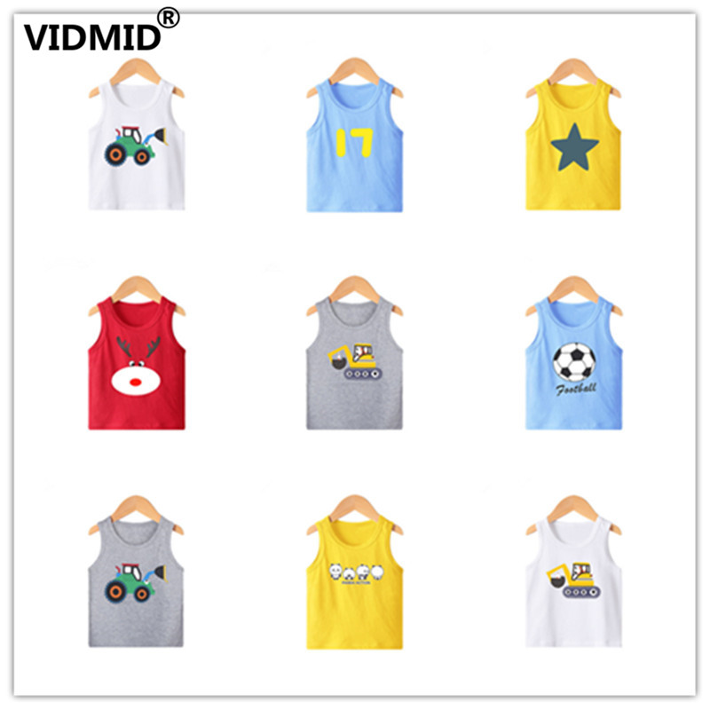 VIDMID New Summer Children Girls boys T-shirts Kids Cotton Short Sleeve Tees Casual Cartoon Tops for 2-8 year Girls boys 4101 01 1