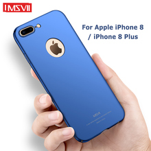 Msvii Cases For iPhone 8 Plus Case Cover Silm Frosted Coque For iPhone 7 Plus Case Hard PC Cover For Apple iPhone8 8Plus Cases cheap Fitted Case Ultra thin Hard PC Frosted Case Apple iPhones Plain Matte Anti-knock MSVII 360 Full Body Frosted PC Series Top quality PC