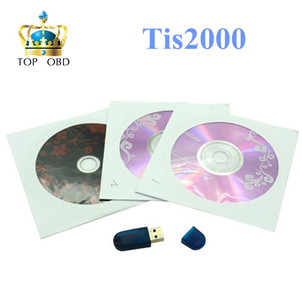 Prix pour Vente chaude!! Tis2000 CD Du Logiciel et TIS2000 dongle USB CLÉ usb tis2000 logiciel pour G-M Tech2 TIS 2000 CD Du Logiciel et USB dongle