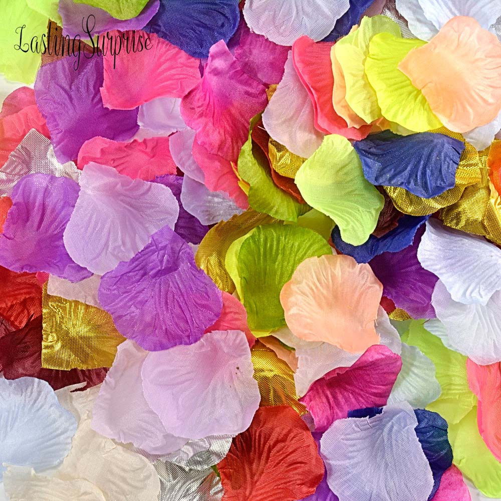 fiestas 1000 p/étalos de rosas artificiales de seda para decoraci/ón de bodas etc.
