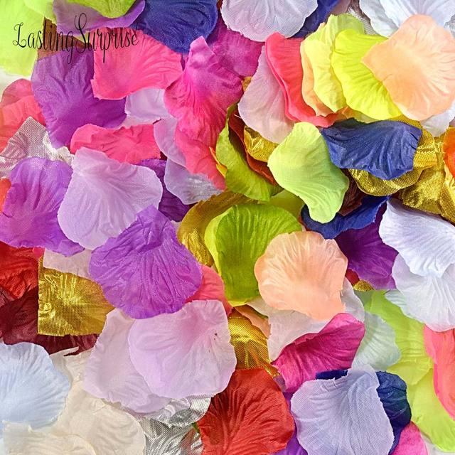 1000pcs 20 colors silk rose petals leaves artificial flowers petals 1000pcs 20 colors silk rose petals leaves artificial flowers petals wedding decoration party decor festival table mightylinksfo