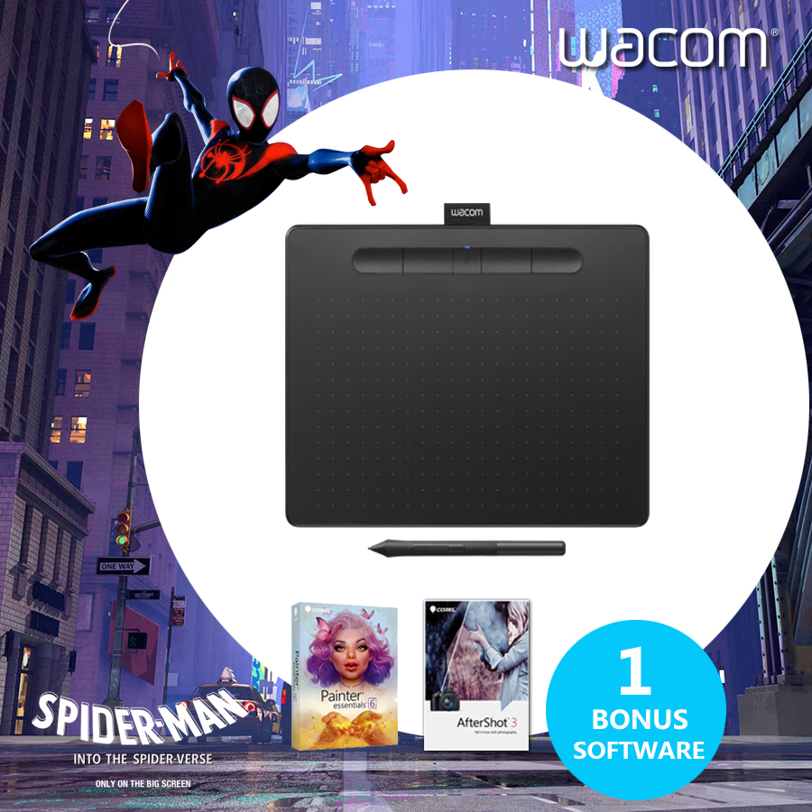 US $100 64 27% OFF|Wacom Intuos CTL 4100 Graphic Drawing Tablet Digital  Tablets 4096 Pressure Levels Black Color + Free Software + Gift Packs -in