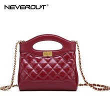 NEVEROUT High Quality Leather Bags for Women Small Handbag Quilted Style Shoulder Bag Chain Flap Mini Clutch Handbags