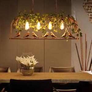 Image 4 - Vintage Bird Pendant Light Iron American Industrial LOFT Bar Cafe Personality E27 Decor Hanging Aisle Nordic Lamp birdcage lamp