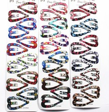wholesale 80pcs fashion assorted printing Girl girls heart Hair Clip Hair accessory FOR KIDS hairpin