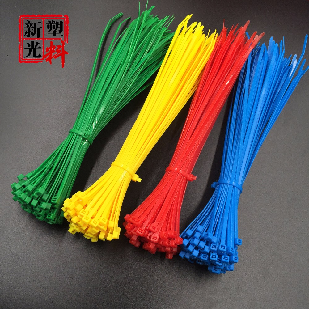 100Pcs/bag 4x150 4*150 3.6mm Width Self-Locking  Green Red Blue Yellow Nylon Wire Cable Zip Ties.cable ties