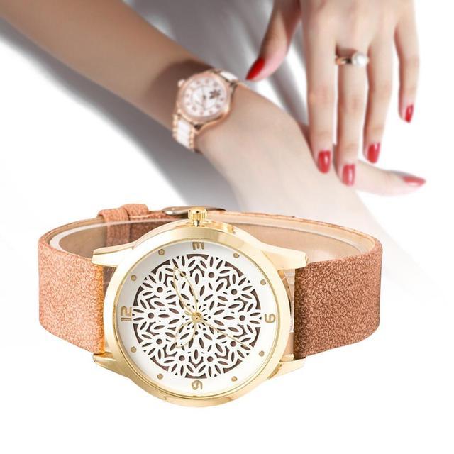 Women Dress bracelet Watch hollow out flower dial ladies Casual Watch fashion Rh
