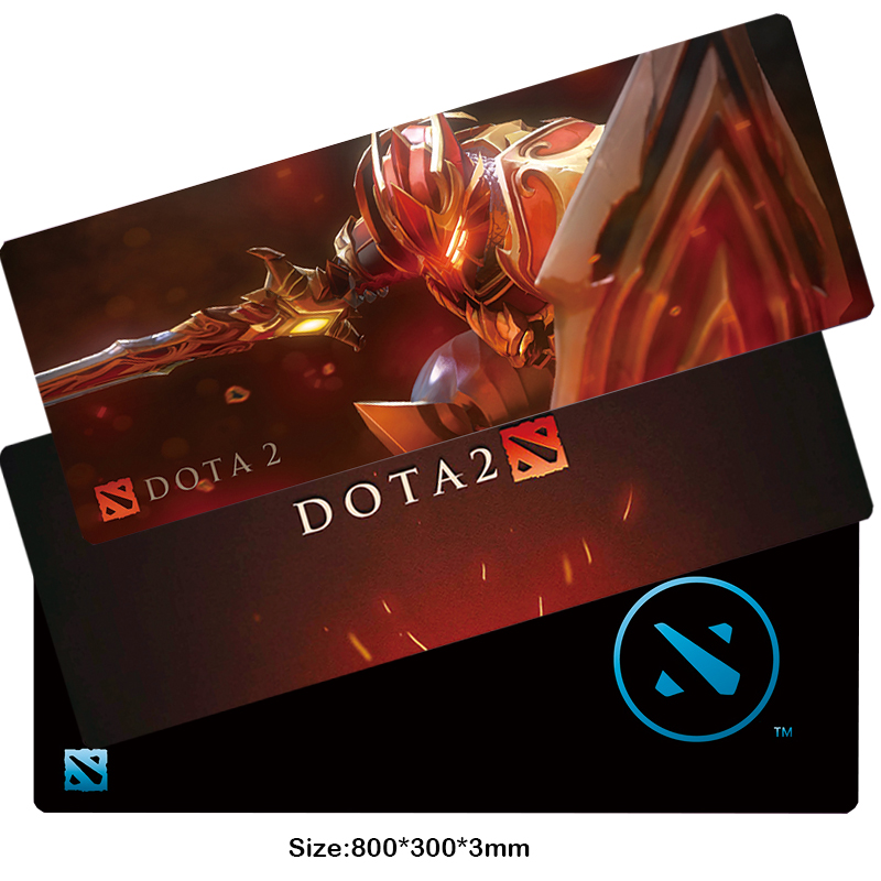 Hight Quality Newest Fashion Large 800mm*300mm*3mm Computer Gaming Mouse Pad Locking Edge Thicker Pad For DOTA 2 gamer fan