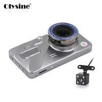Olysine 4 Inch Full HD 1080P Car DVR Camera Dual Lens Dash Cam IPS Screen Driving Video Recorder Dashcam Auto Registrator
