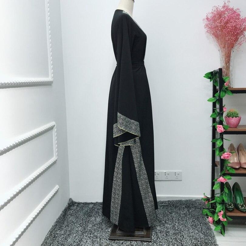 Роскошный Femme кимоно кафтан Handstudded платье из Дубая исламский, мусульманский платье хиджаб абайя Восточный халат из марокена Катар Оман Турецкая одежда