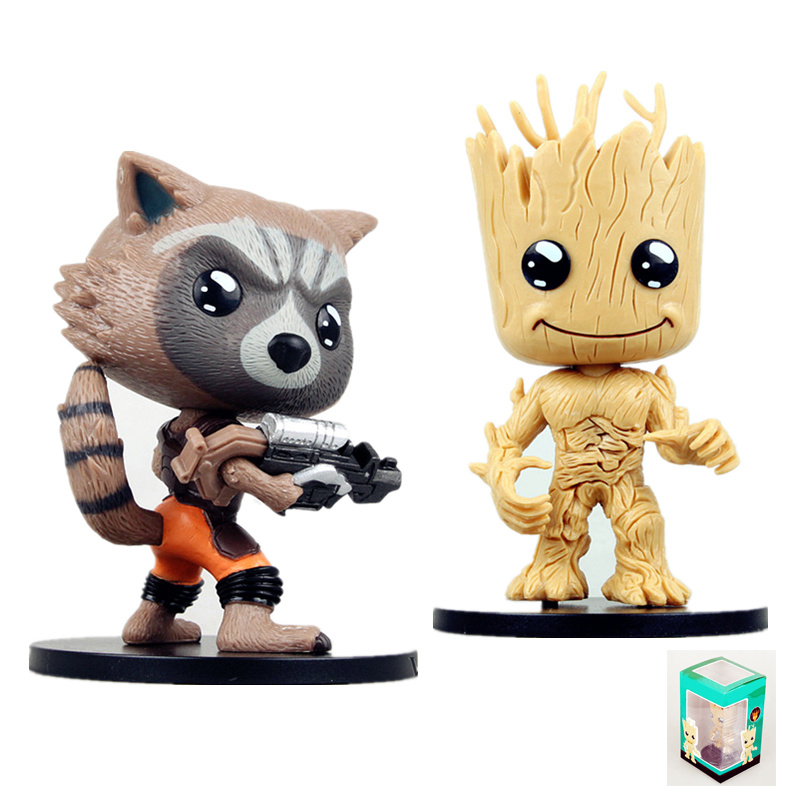Baby Tree Man Guardians of the Galaxy Grunt Rocket Raccoon Action Figure Car Decoration Grande Toys Anime Doll Gift