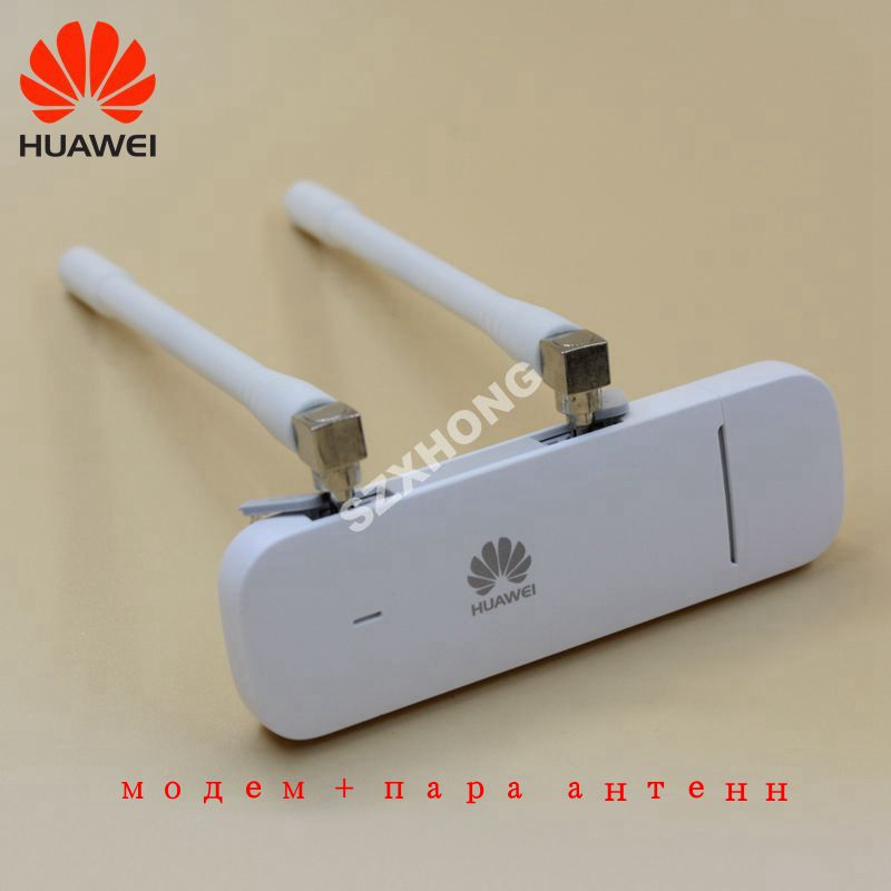 Unlocked Huawei E3372 E3372h-607 plus pair antenna 4G LTE Dongle Modem USB SIM Card