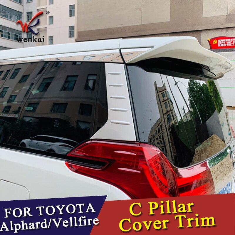 Car Accessories C Pillar Rear Window Quarter Cover Garnish Matte For Exterior Toyota Alphard Vellfire 3rd