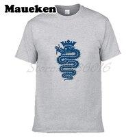 Men S Fashion Inter The Big Grass Snake Milan T Shirt Short Sleeve Shirt 100 Cotton
