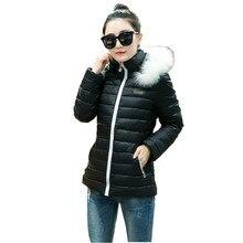 Последняя Зимняя Мода Женщины Вниз куртка С Капюшоном Утолщаются Супер теплый Короткий Пальто Досуг Тонкий Большой ярдов Хлопка-ватник NZ332