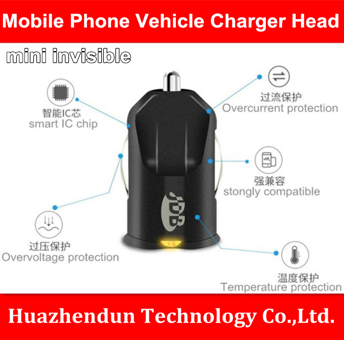 Vehicle Product High-Speed Invisible Mini Charger for Mobile Phone Vehicle Dual USB 2.1  ...