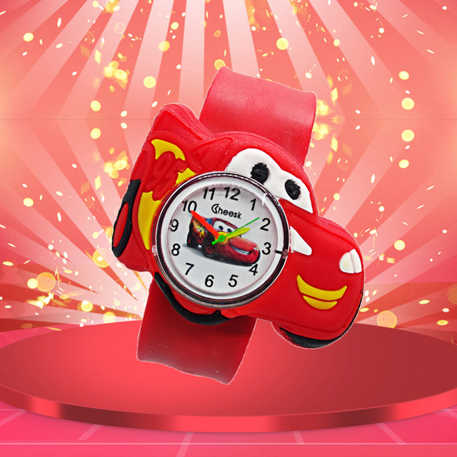 Good Quality Children watch for boy manufacturers cartoon car Silicone Tape patt