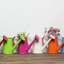 Aibei-zakka estilo Pastoral de colores estaño maceta 4 unids/set Mini Bonsai jardín suministra apoyos de la foto