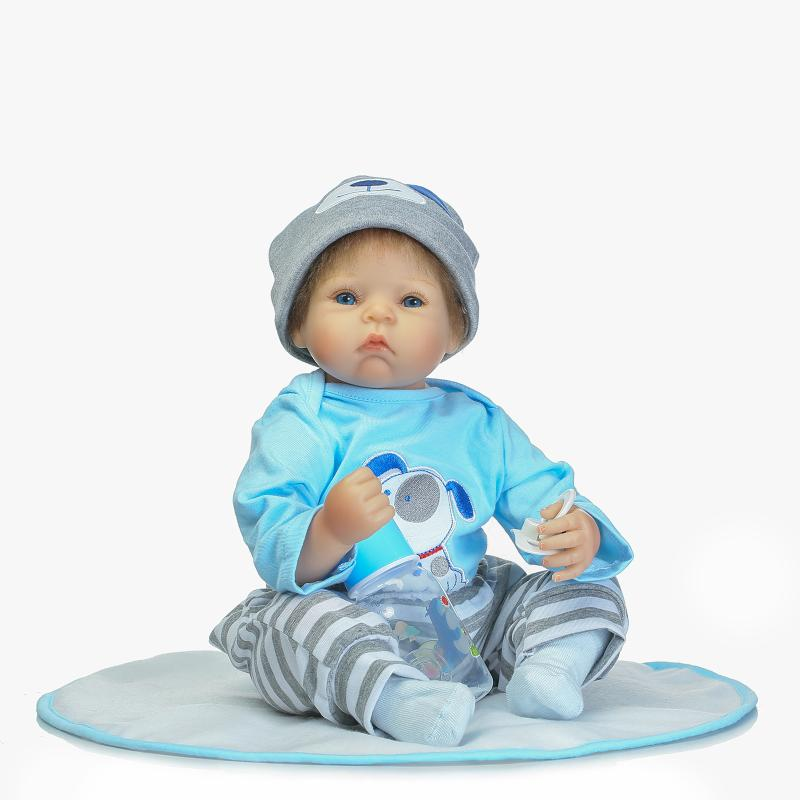 22inch reborn baby doll Silicone Lifelike Baby Girl Doll 55CM Reborn Babies Realistic Newborn Dolls Bonecas for kids Brinquedos 55cm silicone reborn baby doll toy lifelike npkcollection baby reborn doll newborn boys babies doll high end gift for girl kid