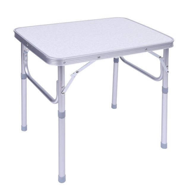 Adjustable Folding Outdoor Aluminum Alloy Dining Table Stand Tray - Adjustable outdoor dining table