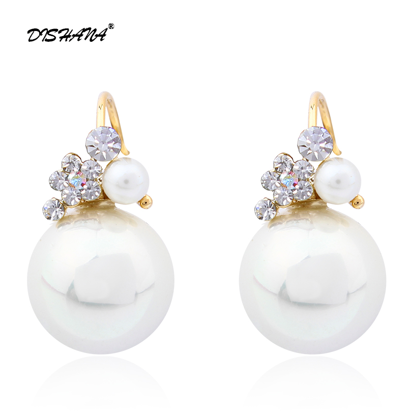 Retro Pendientes Menjuntai Anting-anting Fashion Perhiasan Charms Ornamen Kristal Anting Wanita anting-anting Drop mutiara tiruan (E0006)