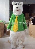 Hot sale Polar bear Mascot costume Polar bear Mascot costume Bear Mascot costume Free shipping