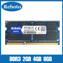 Reboto Brand New Sealed DDR3 2GB 4GB 8GB 1333Mhz 1600Mhz 204Pin Laptop RAM Memory Lifetime warranty + Free Shipping!!!