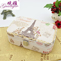 Guanya PU Leather Travel Case Creative Jewelry Organizer Carrying Box Pair Tower Big Ben etc. pattern jewelry box Gifts For Girl