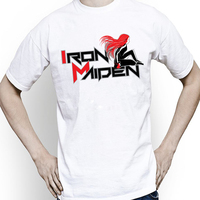 Newest Tshirt Men Fashion Iron Maiden T Shirt Brand Clothing Anime Hip Hop Letters Men Tshirt
