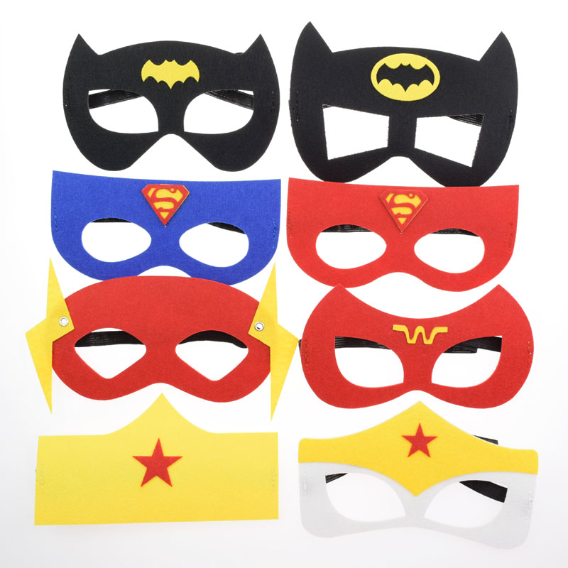 Avengers Superhero Mask Star Wars Wonder Woman Batman Halloween Wedding Decor Masquerade Glasses Kids Cosplay Party