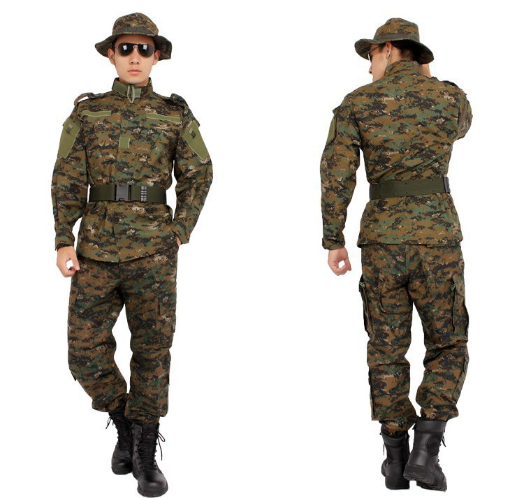 Tactical waterproof camouflage tactical military bdu combat uniform us army men clothing set ...