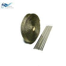 10M  x 50mm Lava Fiber Heat Exhaust Thermo Wrap Shield Protective Tape Fireproof Insulating Cloth For Motorcycle